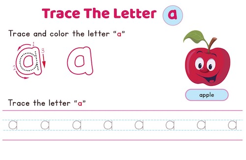 lowercase-letter-a-worksheet