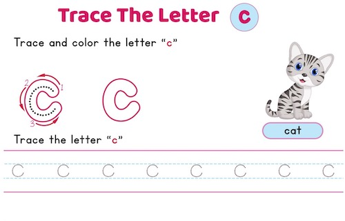 lowercase_letter_c_tracing_worksheets