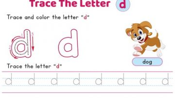 lowercase_letter_d_tracing_worksheets