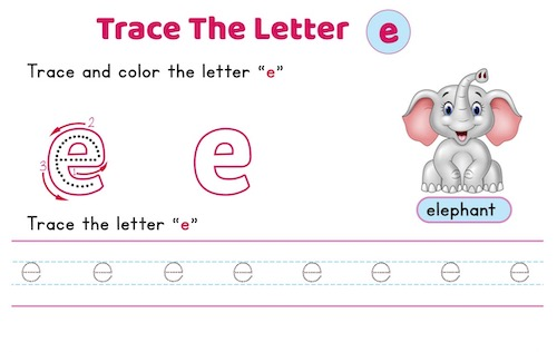 lowercase_letter_e_tracing_worksheets