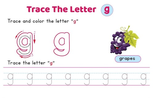 lowercase_letter_g_tracing_worksheets