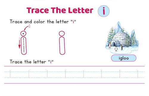 lowercase_letter_i_tracing_worksheets