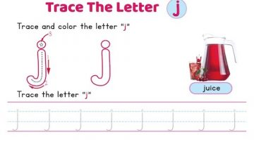 lowercase_letter_j_tracing_worksheets