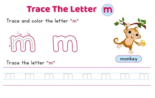 lowercase_letter_m_tracing_worksheets