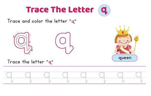 lowercase_letter_q_tracing_worksheets