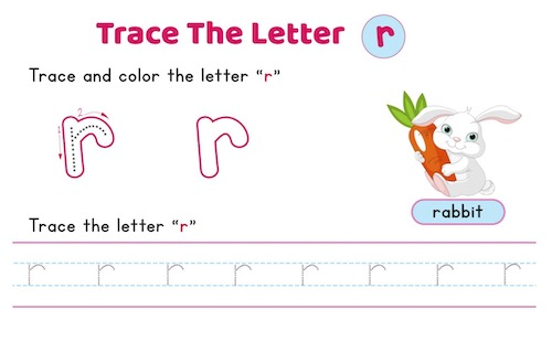 lowercase_letter_r_tracing_worksheets