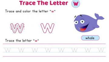 lowercase_letter_w_tracing_worksheets