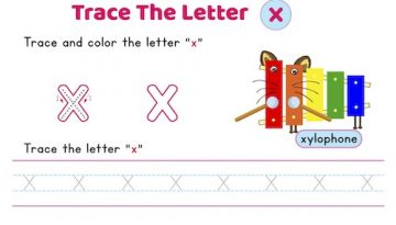 lowercase_letter_x_tracing_worksheets