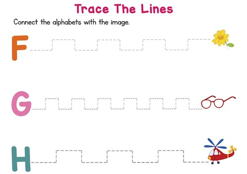 trace_the_dotted_lines_prekindergarten_worksheets_F_to_J