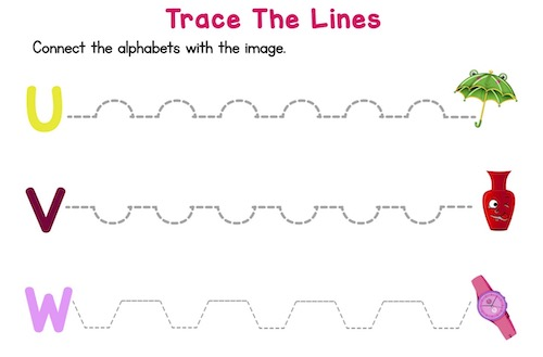 trace_the_dotted_lines_prekindergarten_worksheets_U_to_Z