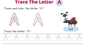 uppercase_letter_A_tracing_worksheets
