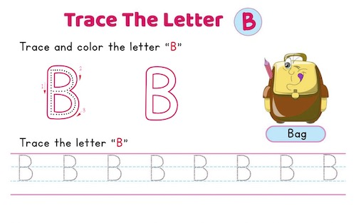 uppercase_letter_B_tracing_worksheets