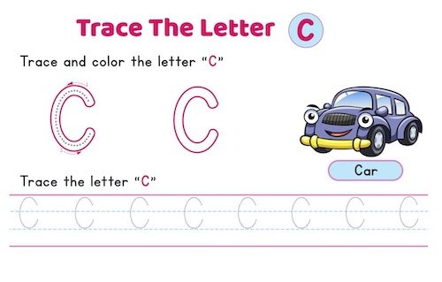 uppercase_letter_C_tracing_worksheets