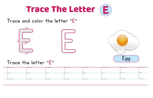 uppercase_letter_E_tracing_worksheets