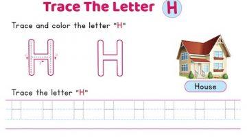 uppercase_letter_H_tracing_worksheets