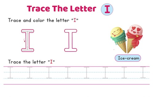 uppercase_letter_I_tracing_worksheets