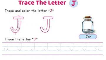uppercase_letter_J_tracing_worksheets