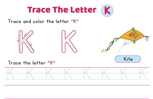 uppercase_letter_K_tracing_worksheets