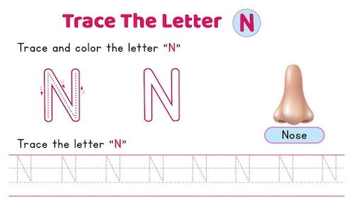 uppercase_letter_N_tracing_worksheets