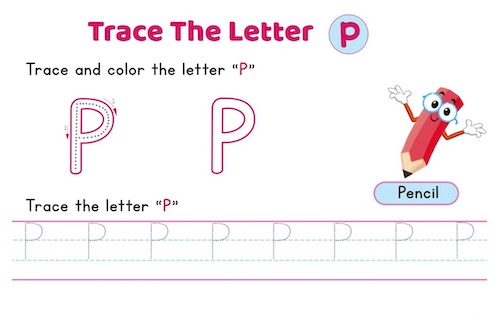 uppercase_letter_P_tracing_worksheets