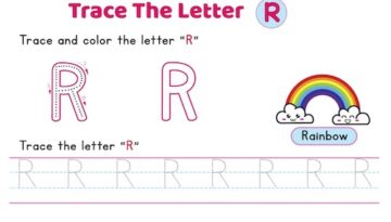 uppercase_letter_R_tracing_worksheets