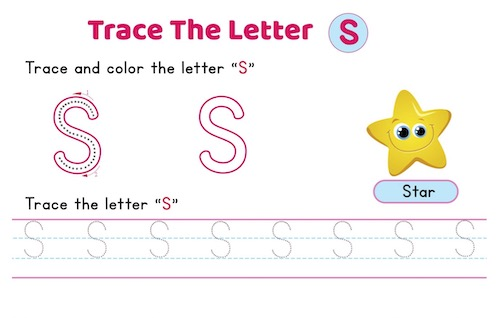 uppercase_letter_S_tracing_worksheets