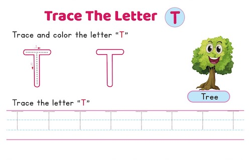 uppercase_letter_T_tracing_worksheets