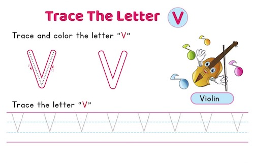 uppercase_letter_V_tracing_worksheets