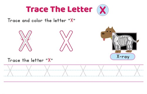 uppercase_letter_X_tracing_worksheets