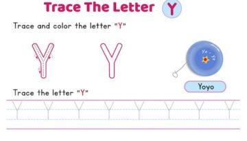 uppercase_letter_Y_tracing_worksheets