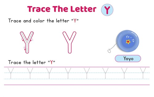 uppercase_letter_Y_tracing_worksheets